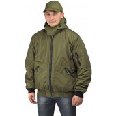 """Куртка мужская """"Бомбер"""" демисезонная, ткань Джордан хаки (с капюшоном)"""