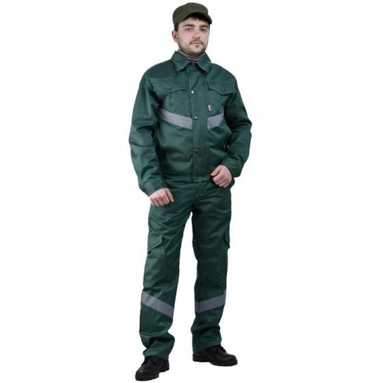 """Костюм мужской """"Дока Моготекс"""" летний, с полукомбинезоном зеленый"""