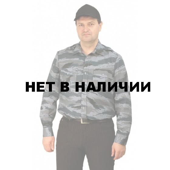 "Рубашка мужская (дл. рукав), камуфляж ""серый вихрь"""