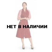 """Халат женский """"Рошель"""" бордовый с красной полоской"""