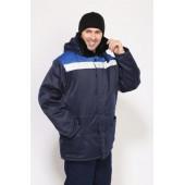 Куртка мужская Урал 2 - Бригадир зимняя с мех. воротником, СОП т-синяя с васильковым