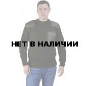 "Свитер ""олива"" с накладками п/ш ворот (U)"