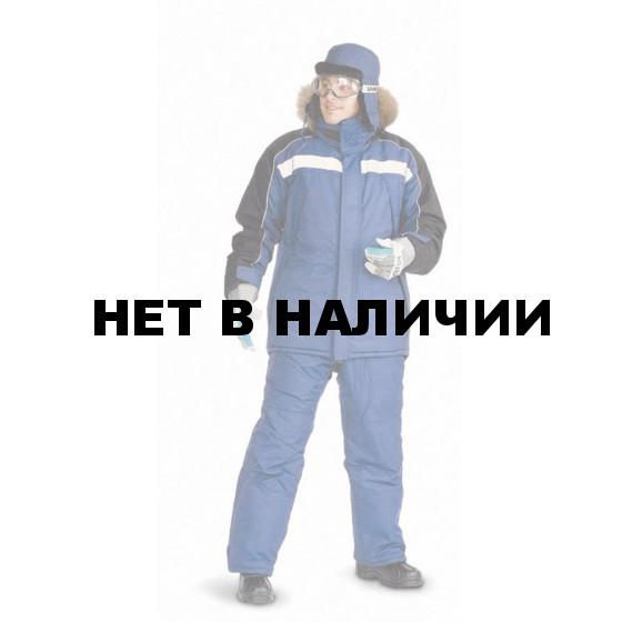 """Костюм мужской """"Аляска"""" зимний т-синий с черным"""