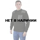 """Свитер """"чёрный"""" с накладками п/ш ворот (U)"""