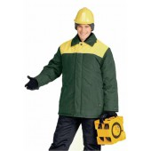 Куртка мужская УРАЛ зимняя т-зеленая с желтым
