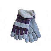 Перчатки комбинированные, ткань - спилок утепленные, тип утепленный Трал