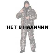 """Костюм мужской """"Вихрь"""" зимний, камуфляж алова """"Морозная ель"""" подкладка флис 180г"""