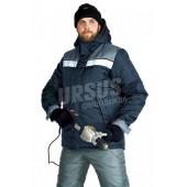 Куртка мужская Эребус зимняя т-синяя с серым