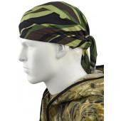Косынка-бандана, камуфляж, зеленые расцветки