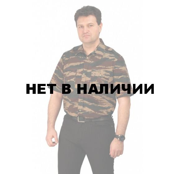 """Рубашка мужская (кор. рукав), камуфляж """"зеленый вихрь"""""""