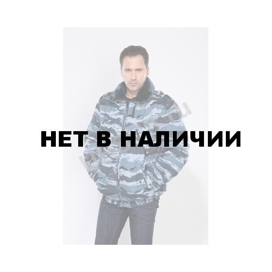 Куртка мужская на поясе Охрана зимняя, камуфляж, ткань Рип-стоп серый вихрь