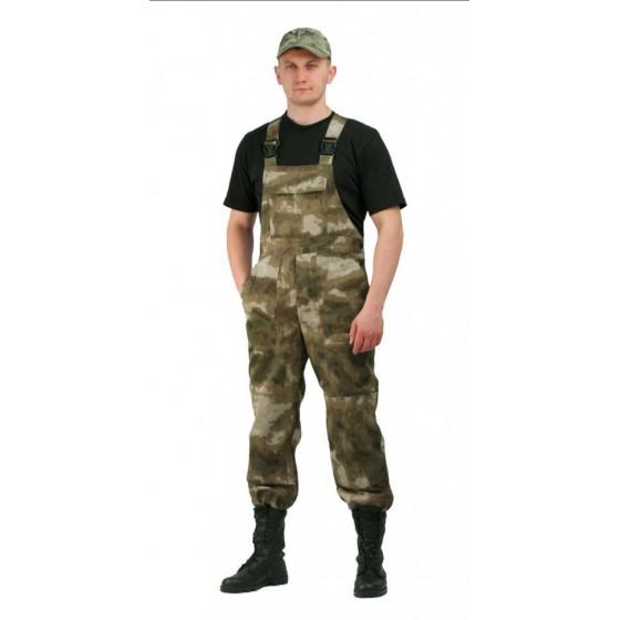 """Полукомбинезон мужской """"Дрегер"""", камуфляж, ткань грета Атака зелёный"""