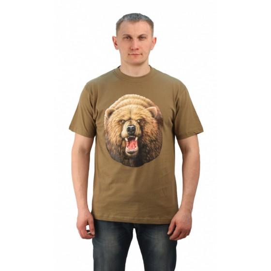 "Футболка ""Медведь"" цвет хаки. Мир футболок"