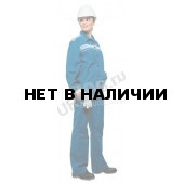 Костюм женский Актуал летний голубой со св-серым 100% хлопок