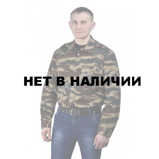 Рубашка мужская (дл. рукав), камуфляж зеленый вихрь