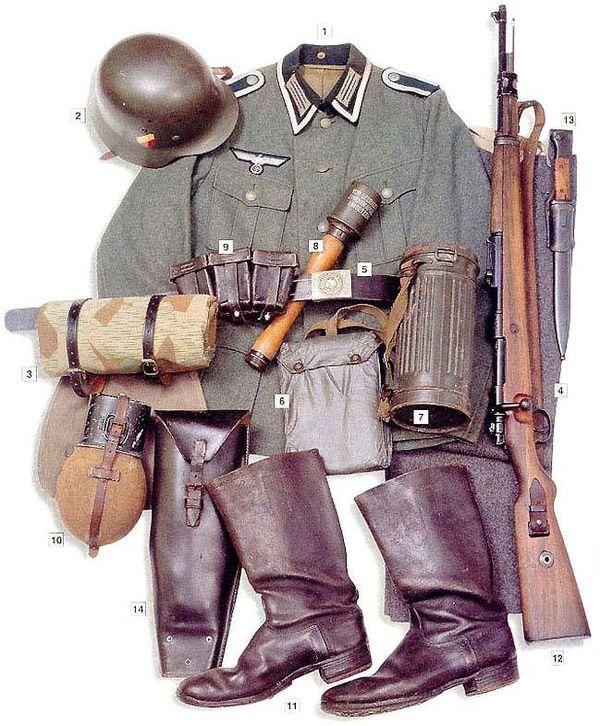 Военная форма солдат и офицеров Второй мировой войны