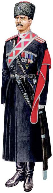 Форма (справа) Кубанского казачьего войска