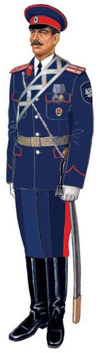 Форма (справа) Волжского казачьего войска