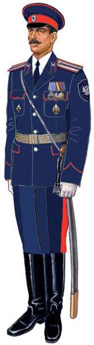 Форма (справа) казаков Всевеликого войска Донского