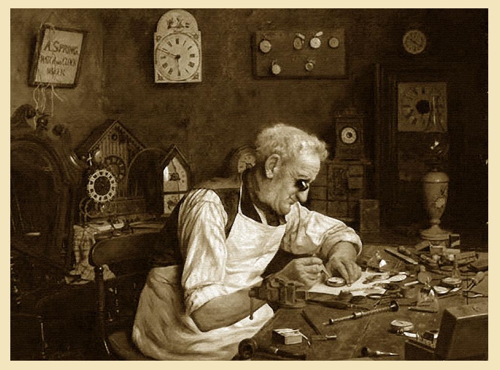 часовщик изготавливает часы