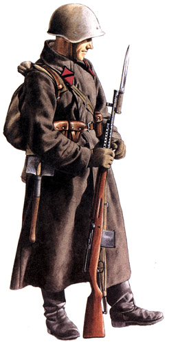 Униформа сухопутных войск РККА во Второй мировой