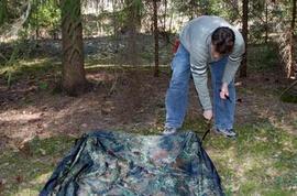 Зафиксировать тент колышками Лёгкая двухместная палатка. Tengu Mark 31T