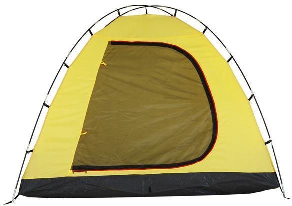 Внутренняя палатка. Застегнут полог и антимоскитная сетка. Внутренняя палатка. Застегнут полог и антимоскитная сетка. Кемпинговая палатка с большим тамбуром и тремя входами KSL Campo 4 Plus зеленый