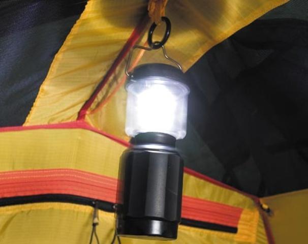 Кольцо для подвески фонаря Кольцо для подвески фонаря Четырехместная кемпинговая палатка с двумя спальнями и тамбуром посередине Alexika Indiana 4 беж