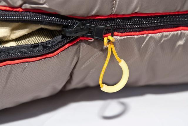 Люминесцентная вставка на петле очень удобна для работы с молнией в темноте. Низкотемпературный спальный мешок-одеяло Canada Plus