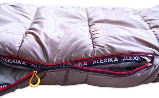 Два бегунка на молнии для вентиляционного окна. Туристический спальный мешок для низких температур Alexika Aleut Compact