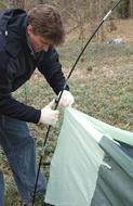 Закрепить тент на дугах крючками Кемпинговая палатка с большим тамбуром и тремя входами KSL Campo 4 Plus