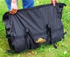Чехол это компрессионный мешок Четырехместная кемпинговая палатка-полубочка с большим тамбуром. Alexika Apollo 4