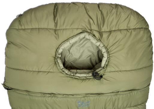 Пристегивающийся капюшон с центральным окном для максимальной теплоизоляции. Уникальный низкотемпературный спальник-одеяло с большим объемом утеплителя Tengu Mark 73SB