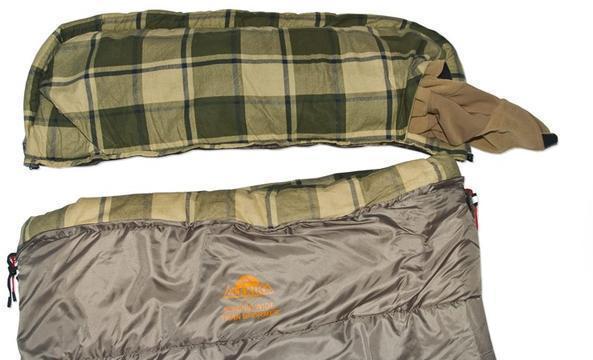 Отстегивающийся подголовник. Позволяет в теплую погоду отстегнуть капюшон и использовать его в качестве подушки, отдельно от спальника. Модель, объединяющая в себе удобство спальника — одеяла с подголовником и простого одеяла Alexika Siberia Wide Transformer