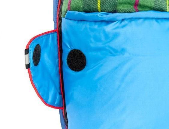 Круглая липучка Velcro (квадратные - отрываются по углам) и светоотражающий ярлык. Самый популярный трехсезонный спальник-одеяло для комфортного сна даже в заморозки Alexika Tundra Plus