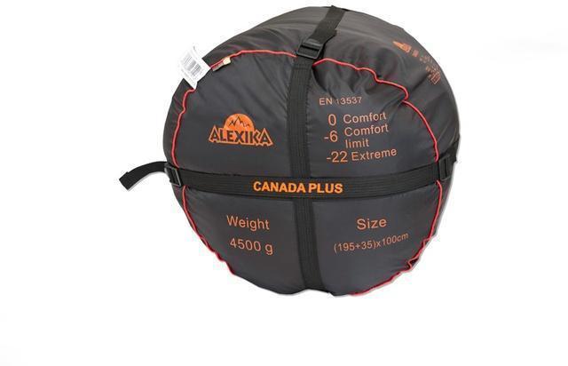На мешке четыре ремня, утянув которые, вы можете уменьшить объем упакованного спальника. Низкотемпературный спальный мешок-одеяло Canada Plus