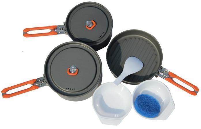 Набор портативной посуды FEAST 3 из алюминия на 2-3 персоны FEAS