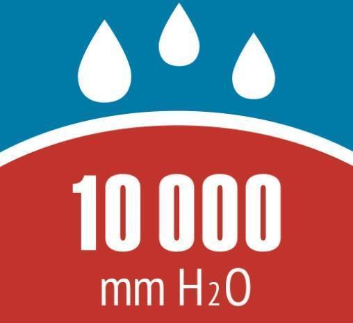 Тестовая (измерянная) водонепроницаемость тента и дна новой палатки 10000 мм водяного столба. Тестовая (измерянная) водонепроницаемость тента и дна новой палатки 10000 мм водяного столба. Четырехместная кемпинговая палатка-полубочка с большим тамбуром Alexika Apollo 4 зеленый