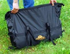 Чехол это компрессионный мешок Четырехместная кемпинговая палатка с большим тамбуром. Alexika Nevada 4