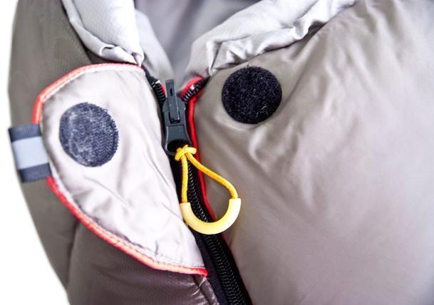 Клапан для фиксации молнии с круглой липучкой и светоотражающим ярлыком Туристический спальный мешок для низких температур Alexika Aleut Compact