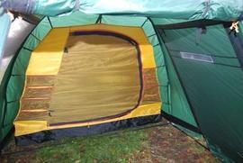 Подвесить внутреннюю палатка Четырехместная кемпинговая палатка с большим тамбуром. Alexika Nevada 4