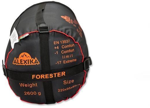 На мешке четыре ремня, утянув которые, вы можете уменьшить объем упакованного спальника. Комфортный трекинговый спальник Alexika Forester