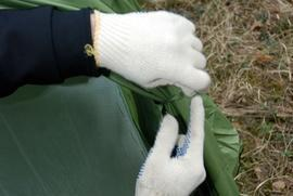 Закрепить внешний тент на внутренних дугах Кемпинговая палатка с большим тамбуром и тремя входами KSL Campo 4 Plus