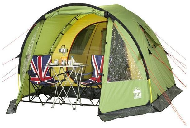 Внутреннее прстранство Внутреннее прстранство Высокая четырёхместная кемпинговая палатка KSL Campo 4 зеленый