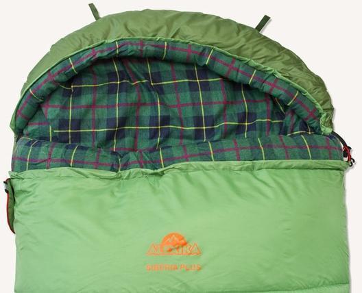 Петли для проветривания. Спальник-одеяло c подголовником для кемпинга и туризма Alexika Siberia Plus