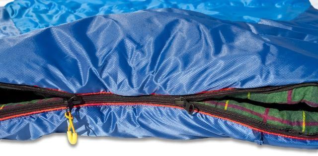 Если становится жарко, можно расстегнуть молнию в ногах. Самый популярный трехсезонный спальник-одеяло для комфортного сна даже в заморозки Alexika Tundra Plus
