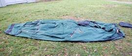 Разложить внешний тент Четырехместная кемпинговая палатка с большим тамбуром. Alexika Nevada 4