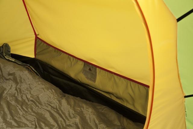 Карман для разных мелочей Карман для разных мелочей Трехместная туристическая палатка-полубочка с большим тамбуром KSL Half Roll 3 зеленый