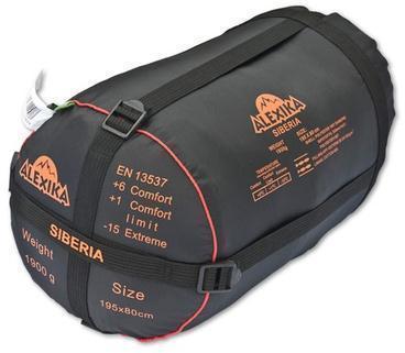 Прочный компрессионный мешок позволяет уменьшить транспортный объем на 30-40%. Спальник-одеяло для кемпинга и туризма Alexika Siberia
