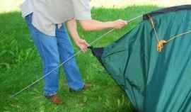 Натянуть тент на дуги Четырехместная кемпинговая палатка-полубочка с большим тамбуром. Alexika Apollo 4